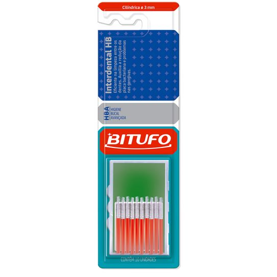 Escova Dental Bitufo Interdental Hb Cilíndrica Extra Fina