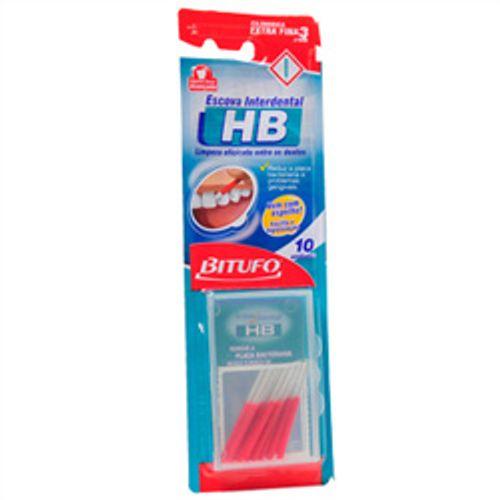 Escova Dental Bitufo Interdental HB Extra Fina com 10 Unidades
