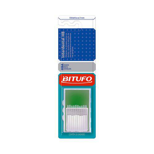 Escova Dental Bitufo Interdental - Ultra Fina 2Mm 10 Unidades