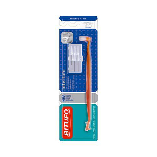Escova Dental Bitufo Intertufo Cônica - 6 Refis Interdentais