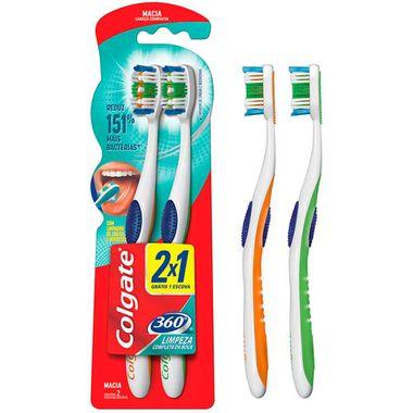 Escova Dental Colgate 360 Graus Macia Leve 2 e Pague 1 Cx. C/ 18 Un.
