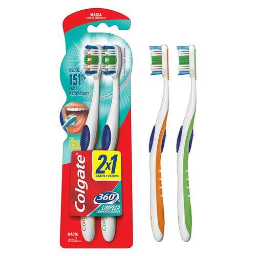 Escova Dental Colgate 360 Graus 2 Unidades