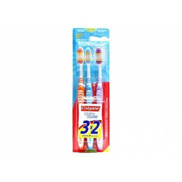 Escova Dental Colgate Extra Clean Média 3 Unidades Leve 3 e Pague 2
