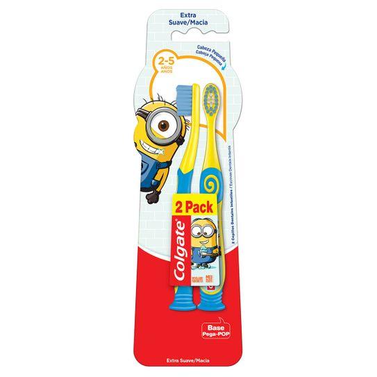 Escova Dental Colgate Minions 2 a 5 Anos C/2