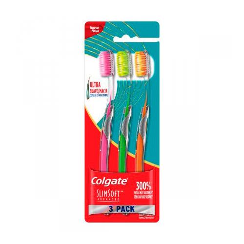 Escova Dental Colgate Slim Soft Advanced 3 Unidades