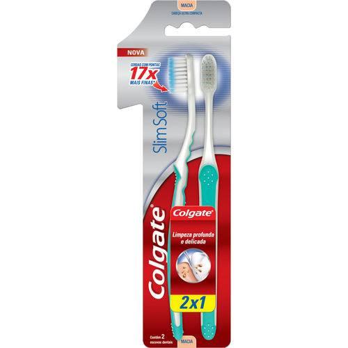 Escova Dental Colgate Slim Soft L2p1 Base U Comp
