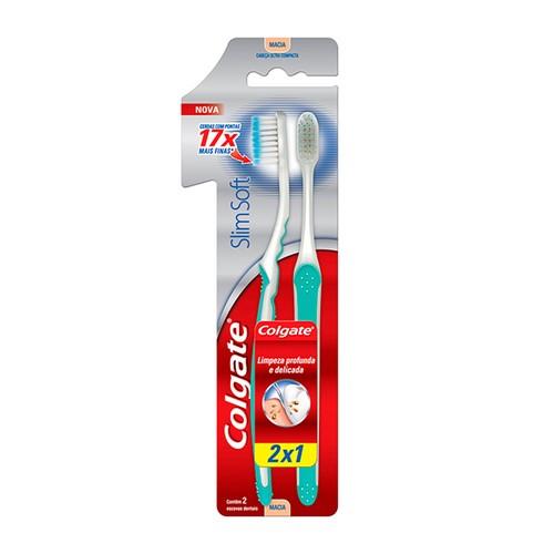 Escova Dental Colgate Slim Soft Macia Cores Sortidas Leve 2 Pague 1