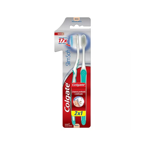Escova Dental Colgate Slim Soft Ultra Compacta Leve 2 Pague 1