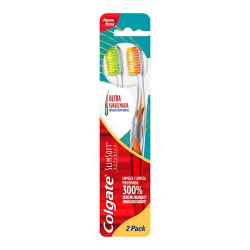 Escova Dental Colgate Slimsoft Advanced 2 Unidades