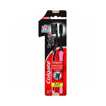 Escova Dental Colgate Slim Soft Black 2unid Promo Leve 2 Pague 1
