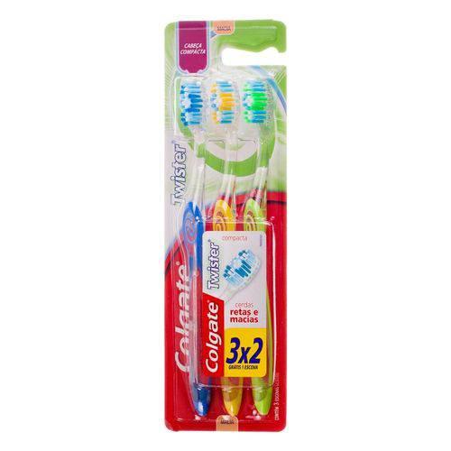 Escova Dental Colgate Twister Macia Leve 3 Pague 2 3un