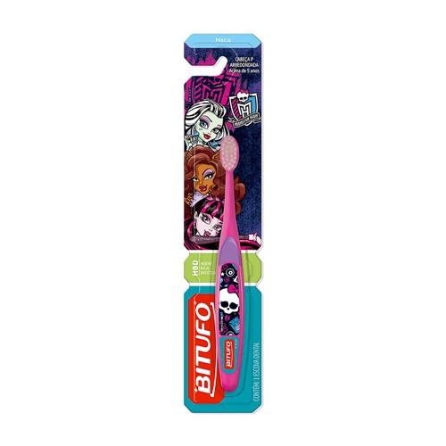 Escova Dental Infantil Bitufo Monster High Macia Cores Sortidas Cabeça P Arredondada 1 Unidade
