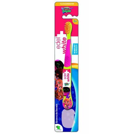 Escova Dental Infantil Edel White Kids Flosserbrush Mini Beat Power Rockers Cores Sortidas 1 Unidade