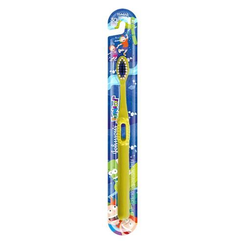 Escova Dental Infantil Johnson's Reach Essencial Junior Macia Cores e Personagens Sortidos 1 Unidade