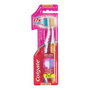 Escova Dental Slim Soft Colgate com 2 Unidades