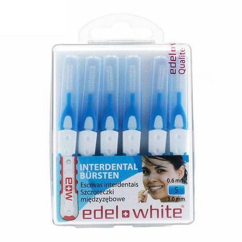 Escova Interdental Edel White S 3,0mm com 6 Unidades