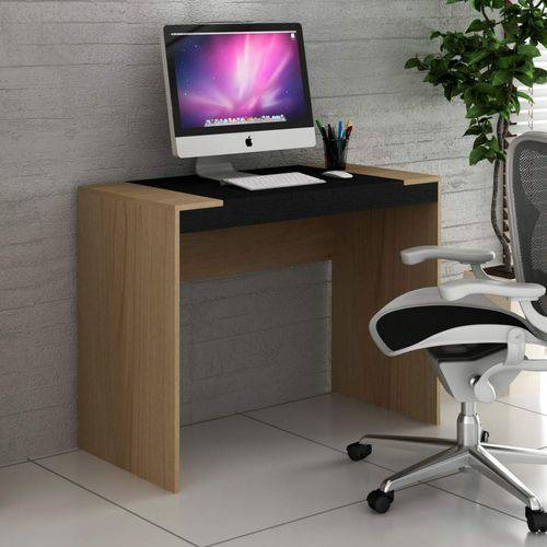 Escrivaninha HO-2901 Home Office Hecol Móveis Avelã TX/Ônix TX