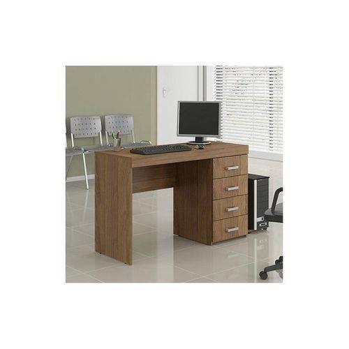 Escrivaninha/Mesa para Computador ou Escritorio 4 Gavetas Castanho - Politorno