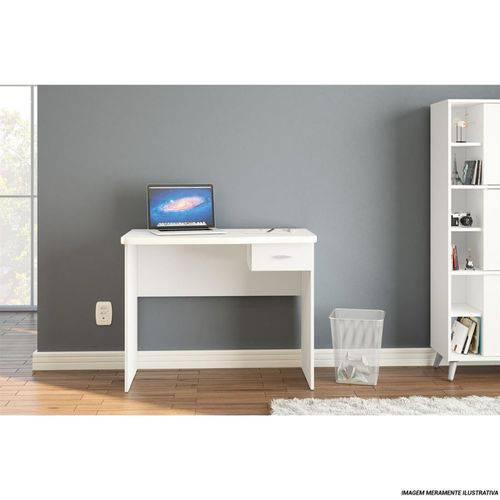 Escrivaninha/Mesa para Computador ou Escritorio Resende Branco - Politorno