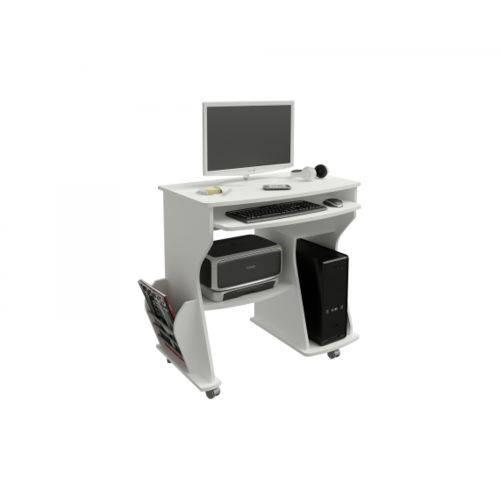 Escrivaninha para Computador com Prateleiras 160 Artely Branco
