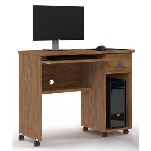 Mesa para Computador Vicenza - Lukaliam Móveis - Amêndoa