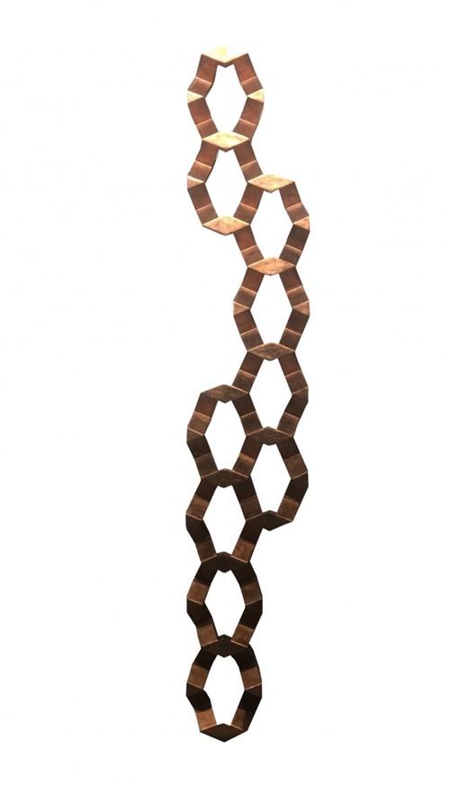 Escultura Parede Favo Cobre 130x24x10 Cm - Occa Moderna