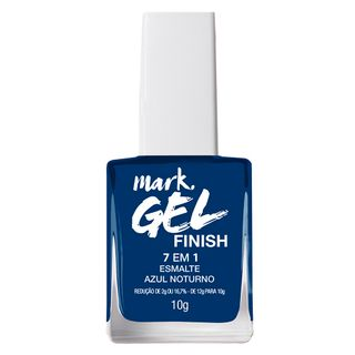 Esmalte 7 em 1 Mark. Gel Finish - 10g Esmalte 7 em 1 Mark. Gel Finish 10g - Azul Noturno