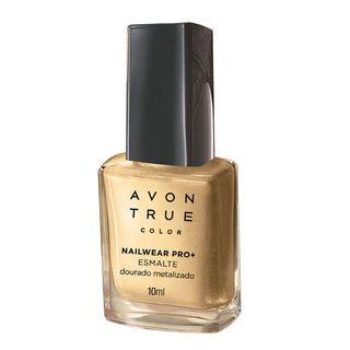 Esmalte True Color Nailwear Pro+ Metalizado 10ml - Dourado Metalizado