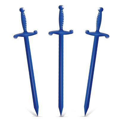 Espadinha de Plástico para Petisco 8cm Azul 200un Barti Plast