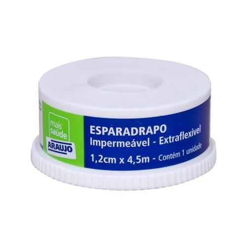 Esparadrapo Araujo Impermeável Branco com 1 Unidade de 1,2cm X 4,5m