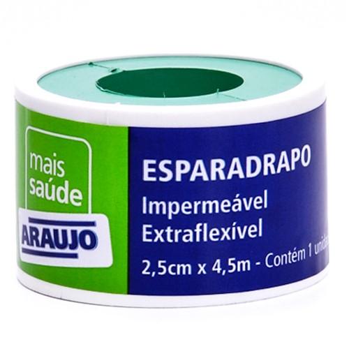 Esparadrapo Araujo Impermeável Branco com 1 Unidade de 2,5cm X 4,5m