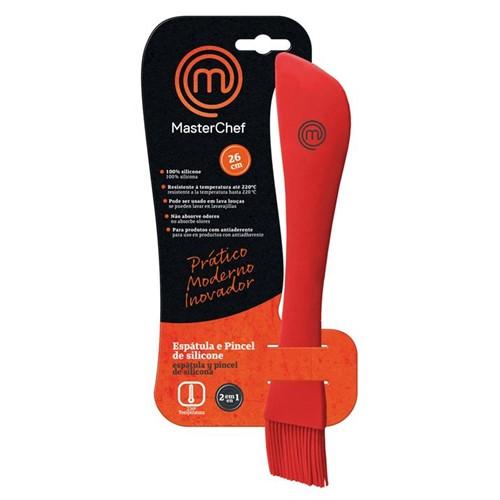 Espátula e Pincel 2 em 1 MasterChef Vermelha MCF-G521 de Silicone