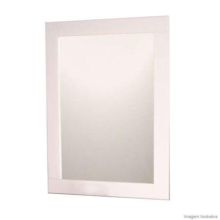 Espelho 966 80x60cm com Moldura Acrílico Branco Formacril
