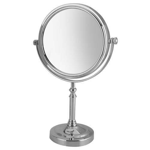 Espelho com Aumento de Mesa Dupla Face 32 Cm