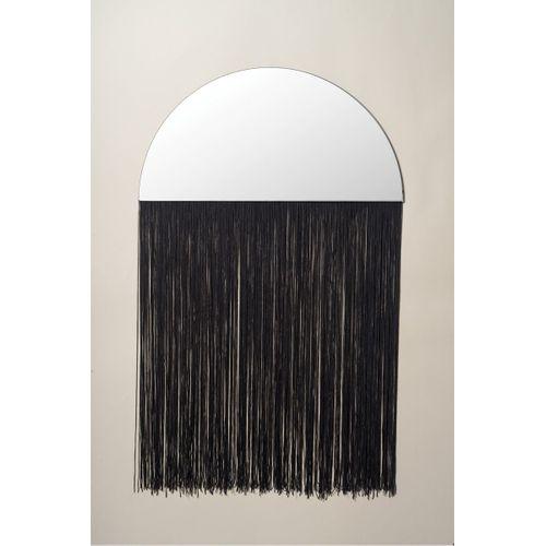 Espelho com Franja Preto