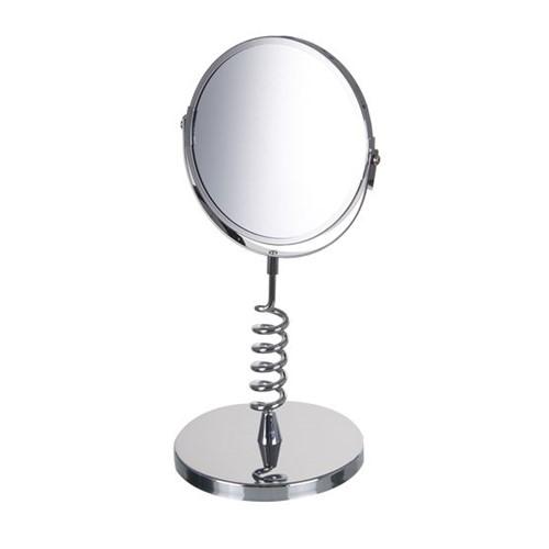 Espelho de Aumento Dupla Face de Mesa Aumenta 5x Ref.155X