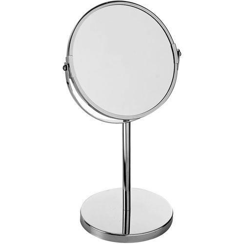 Espelho de Aumento MOR 8481 Giratório Dupla Face Inox