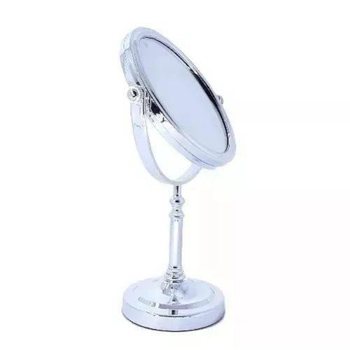 Espelho de Mesa /aumento Dupla Face Cromado