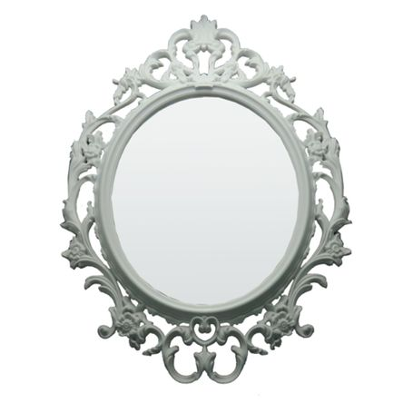Espelho Decorativo 02 - Branco - 57x82x3cm