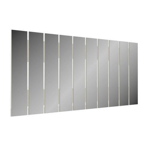 Espelho Decorativo Barra Vertical 150 Cm Off White