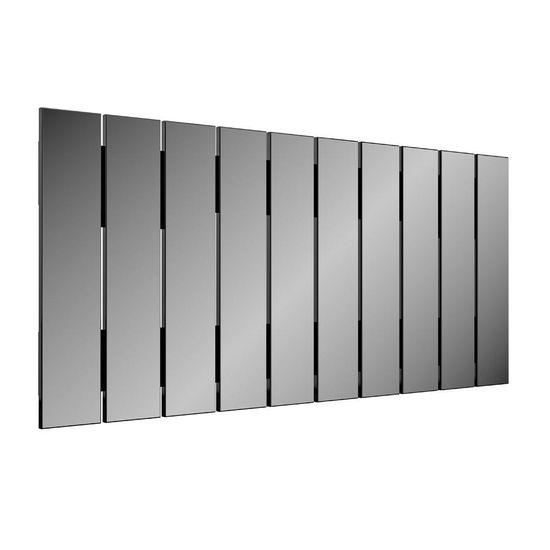 Espelho Decorativo Barra Vertical 150 Cm Preto Brilho