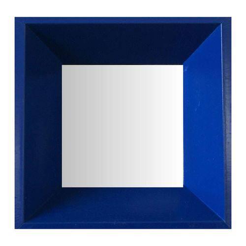 Espelho Moldura Madeira Lisa Fundo 16203 Azul Art Shop