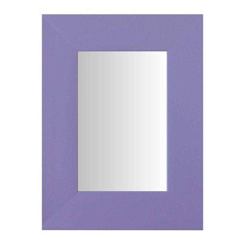 Espelho Moldura Madeira Lisa Raso 16196 Lilás Art Shop