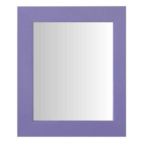 Espelho Moldura Madeira Lisa Raso 16197 Lilás Art Shop