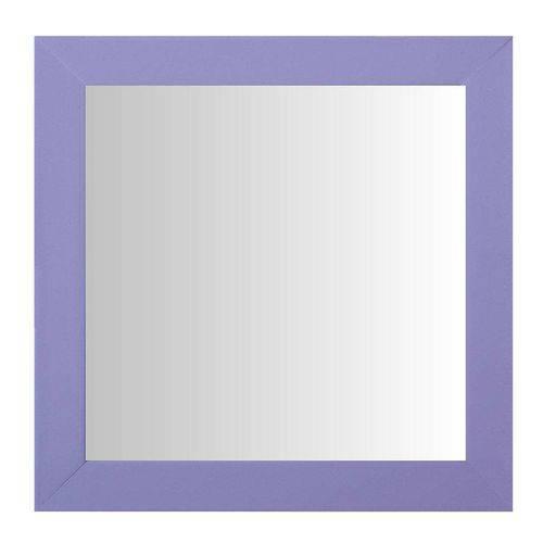 Espelho Moldura Madeira Lisa Raso 16198 Lilás Art Shop