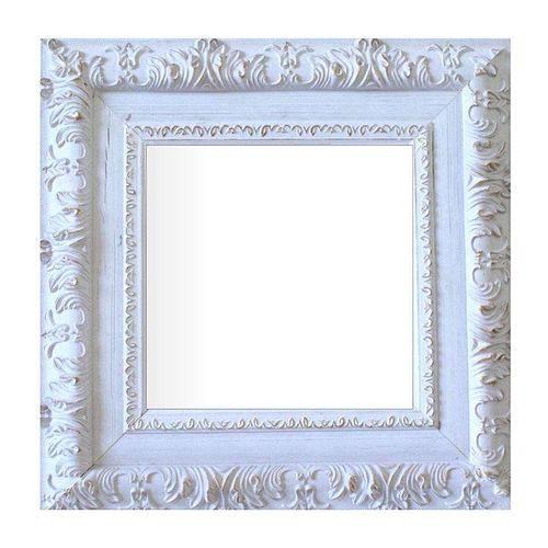 Espelho Moldura Rococó Externo 16173 Branco Patina Art Shop