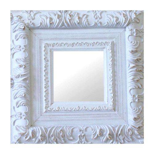 Espelho Moldura Rococó Externo 16171 Branco Patina Art Shop