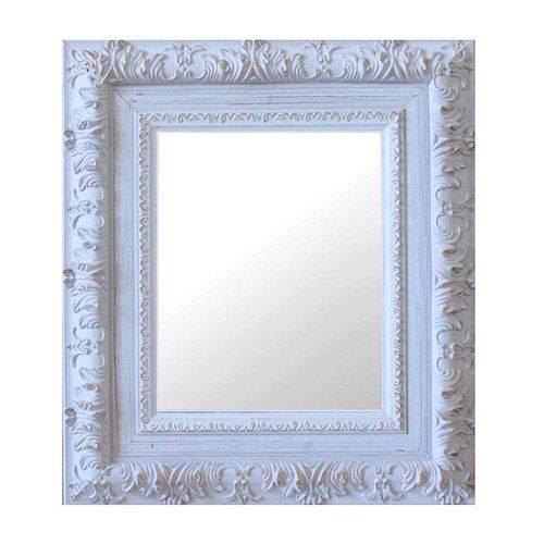 Espelho Moldura Rococó Externo 16174 Branco Patina Art Shop
