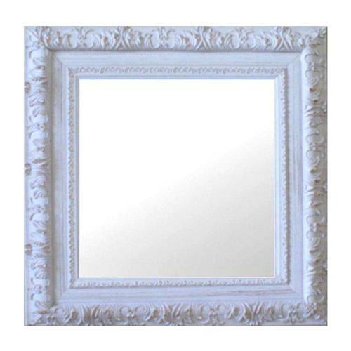 Espelho Moldura Rococó Externo 16270 Branco Patina Art Shop