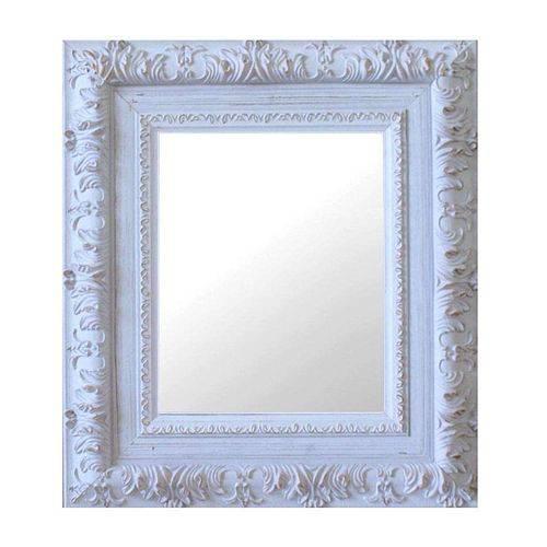 Espelho Moldura Rococó Externo 16271 Branco Patina Art Shop